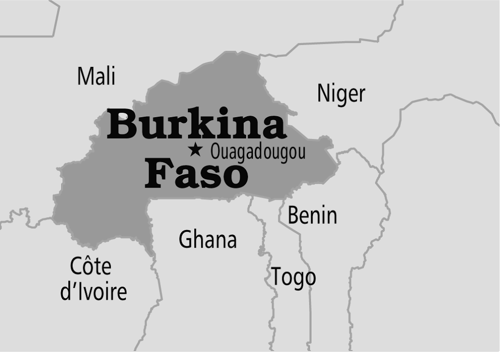 The Map of Burkina Faso Burkina Faso