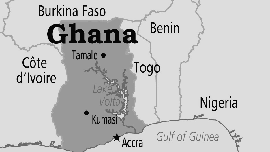 West Africa Map with Capitals of Countries in the Region. - West ...